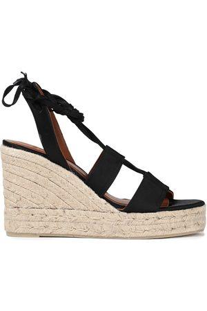 CASTAÑER Castañer Woman Boris Lace-up Satin Espadrille Wedge Sandals Size 35