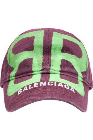 Balenciaga Bb Sprayed Cotton Cap