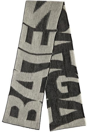 BALENCIAGA Wool Logo Scarf