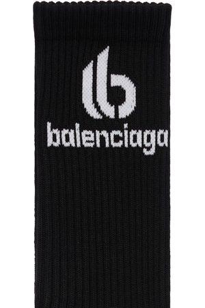 BALENCIAGA Double B Cotton Blend Socks