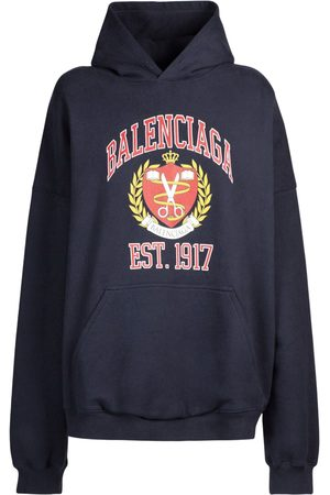 BALENCIAGA Wide Fit Cotton Jersey Hoodie