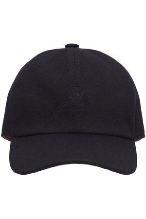 LORO PIANA Logo Cashmere Baseball Hat