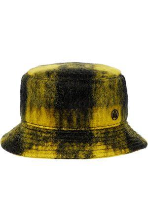 Maison Michel Jason checked mohair-blend bucket hat