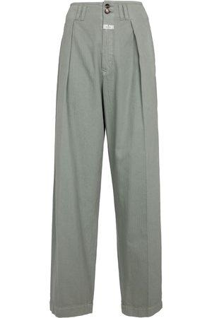 ETRO High-rise wide-leg cotton pants