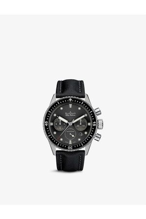 Blancpain 5200 1110 B52A Fifty Fathoms stainless-steel and canvas automatic watch