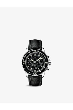 Blancpain Men Watches - 5085F 1130 52A Fifty Fathoms stainless-steel and canvas automatic watch