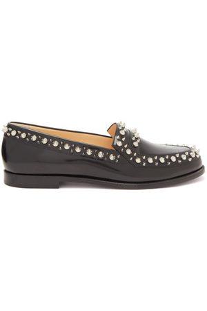 Christian Louboutin Mattia Spike-embellished Leather Loafers - Womens