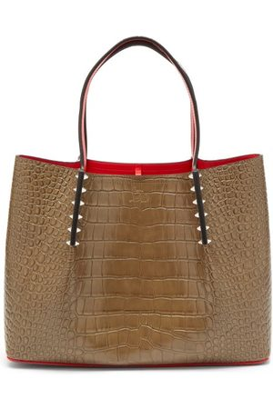 Christian Louboutin Cabarock Small Crocodile-effect Leather Tote Bag - Womens
