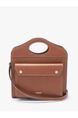 Burberry Pocket Mini Leather Cross-body Bag - Womens