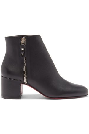 Christian Louboutin Women Ankle Boots - Ziptotal 55 Leather Ankle Boots - Womens