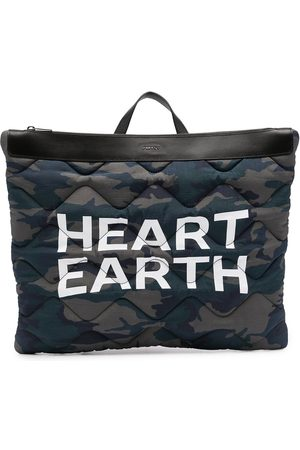 Ports V Rucksacks - Heart Earth camouflage-print backpack