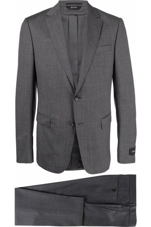 Z Zegna Check pattern wool suit