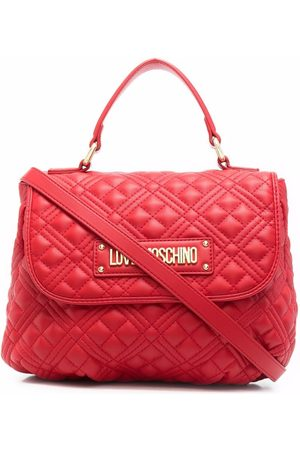 Love Moschino Women Shopper & Tote Bags - Quilted logo-plaque tote bag