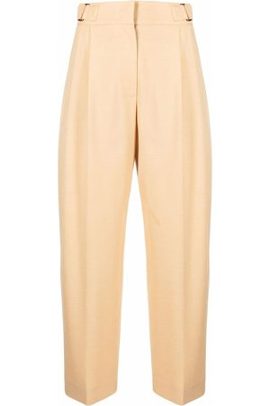 REJINA PYO Women Trousers - High-waisted tailored cropped trousers