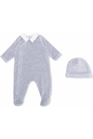Emporio Armani Kids Mélange-effect babygrow set