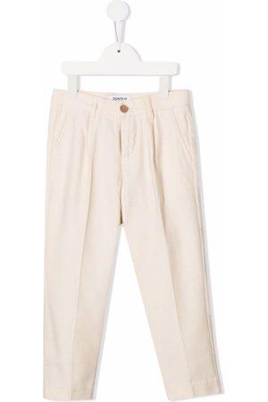 DONDUP KIDS Girls Trousers - TEEN tailored cotton trousers - Neutrals