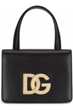 Dolce & Gabbana Women Shopper & Tote Bags - DG logo leather tote bag