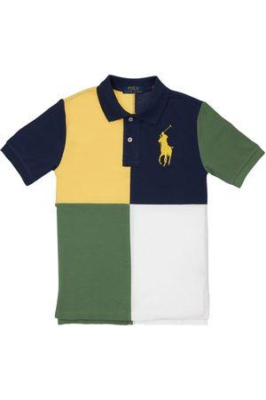 RALPH LAUREN Boys Polo Shirts - Color Block Cotton Pique Polo Shirt