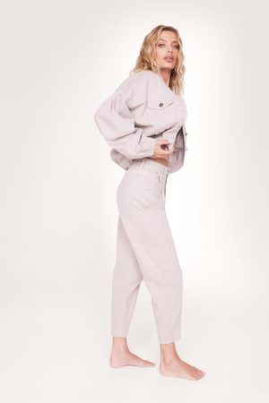 NASTY GAL Women Tapered - Womens Organic Denim Tapered Leg Jeans
