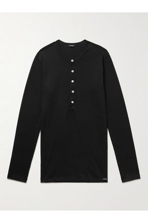 Tom Ford Stretch Cotton-Jersey Henley T-Shirt