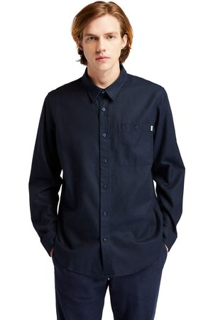 Timberland Long-sleeved overshirt for men in navy navy, size 3xl