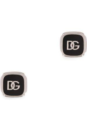 Dolce & Gabbana Silver-Tone Logo Cufflinks