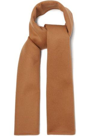 Totême Brushed Wool-blend Twill Scarf - Womens - Camel