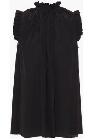 ZIMMERMANN Woman Ruffle-trimmed Silk Crepe De Chine Top Size 0