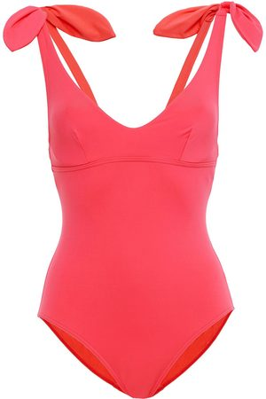 MAISON LEJABY Women Swimsuits - Woman Norma Jeane Knotted Swimsuit Coral Size 32 B