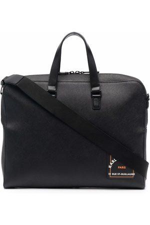 Karl Lagerfeld Men Laptop & Business Bags - Saffiano logo-print briefcase