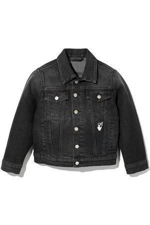 Off-White Kids Arrows cotton denim jacket