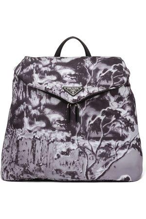 Prada Men Rucksacks - Re-Nylon abstract-print backpack