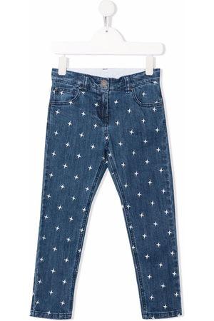 Stella McCartney Boys Straight - Star-embroidery straight-leg jeans