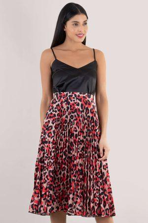 Closet Leopard Pleated Skirt
