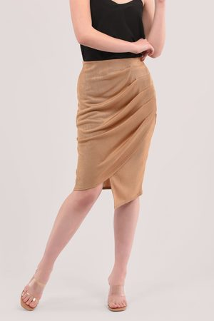 Closet Pleated Wrap Pencil Skirt