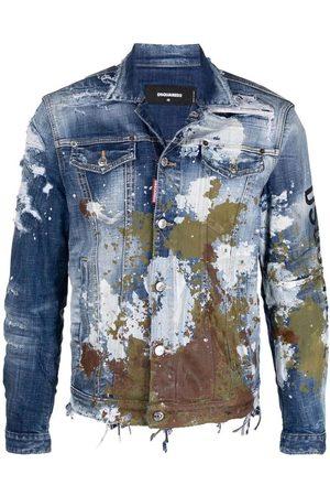 Dsquared2 Mens - distressed-effect denim jacket