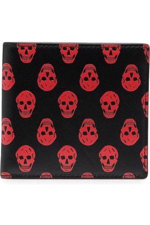 Alexander McQueen Skull-print leather wallet /Red