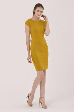 Closet Pleated Sleeve Pencil Dress