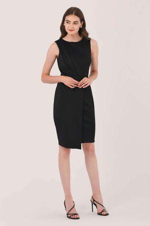 Closet Draped Sleeveless Wrap Dress