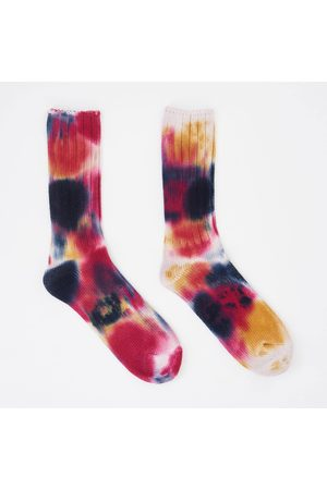 ANONYMOUS ISM Scatter Dye Crew Sock - Navy