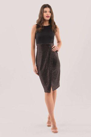 Closet Sleeveless Pleated Pencil Dress
