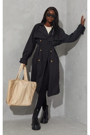 PRETTYLITTLETHING Tall Oversized Belted Midi Trench