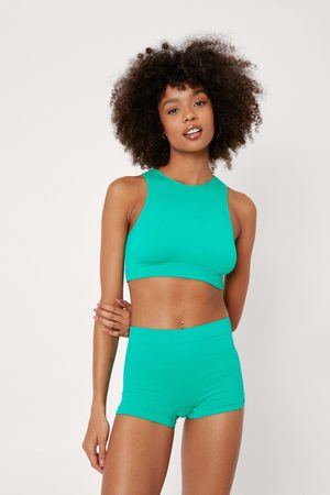 NASTY GAL Womens Recycled Ribbed Seamless Boxer Shorts