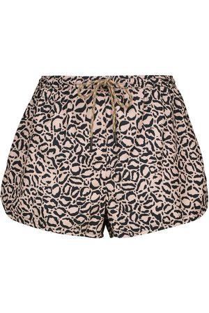 The Upside Efrem leopard-print track shorts