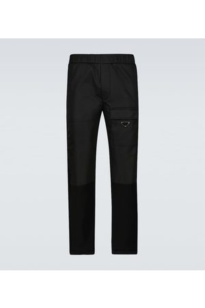 Prada Technical bi-fabric pants