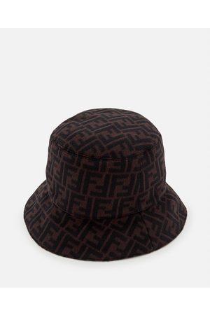 Fendi WOOL BLEND BUCKET HAT size M