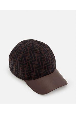 Fendi Men Hats - WOOL BLEND BASEBALL HAT size One Size