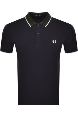 Fred Perry Striped Collar Polo T Shirt