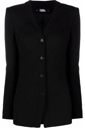 Karl Lagerfeld Single-breasted tailored blazer