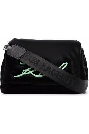 Karl Lagerfeld K/Signature soft shoulder bag
